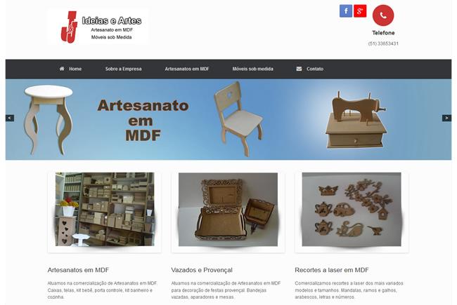 Site JJ Ideias e Artes
