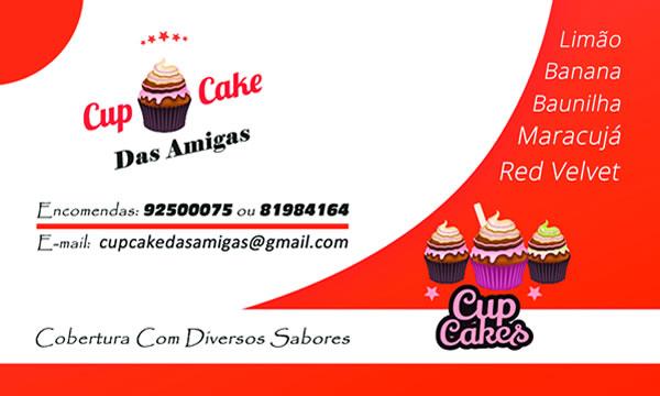 Cartão de visita Cupcake das Amigas