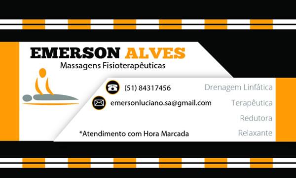 Cartão de visita Emerson Massagista