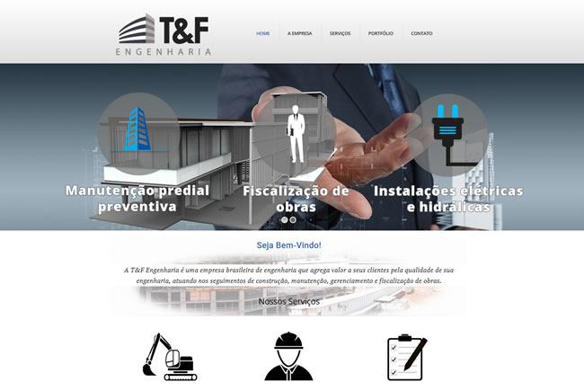 Site T&F Engenharia